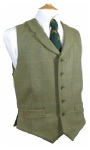 Beaver of Bolton Mens Two Pocket Tweed Lapel Waistcoat