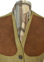 Beaver Ladies Classic Tweed Shoot Vest Collar