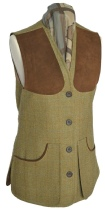 Beaver Ladies Classic Tweed Shoot Vest Front