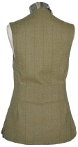 Beaver Ladies Classic Tweed Shoot Vest Rear