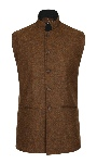 Beaver of Bolton Mens Nehru Collar Tweed Waistcoat