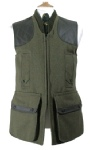 Beaver Of Bolton Mens Zip Front Tweed Shoot Vest