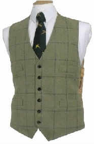 Beaver Mens Classic Tweed Four Pocket Waistcoat