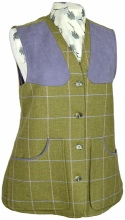 Beaver of Bolton Ladies Classic Tweed Shooting Waistcoat