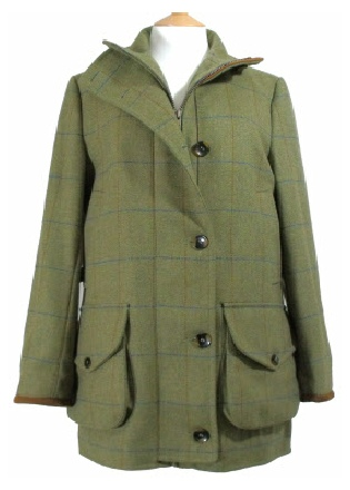 Beaver Ladies Tweed Funnel Neck Shoot Coat