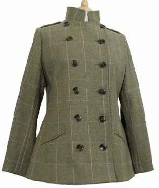 Beaver Ladies Tweed Double Breasted Military Jacket