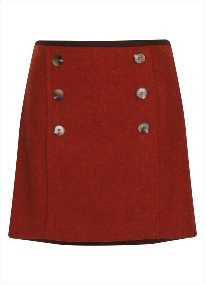 Beaver Ladies Tweed Panel Front Skirt