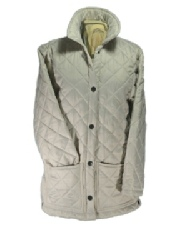 Beaver of Bolton Ladies Quilted Jacket in Stone