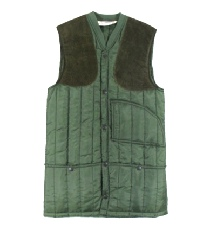 Beaver of Bolton Mens Nylon Quilted Skeet Vest in Olive