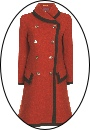 Beaver of Bolton Ladies Double Breasted Framed Coat