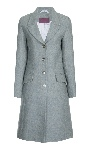 Beaver Of Bolton Ladies ¾ Length Single Breasted Peak Lapel Coat