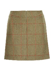 Beaver of Bolton Ladies Multi-Stitch Short Tweed Skirt Rear