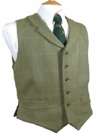 Beaver Mens Tweed Two Pocket Lapel Waistcoat