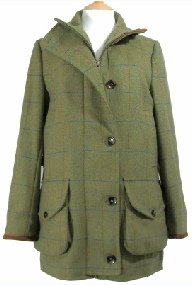 Beaver Ladies Tweed Funnel Neck Shooting Coat