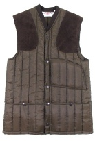 Beaver OF Bolton Mens Vertical Quilted Shoot Vest in Brown