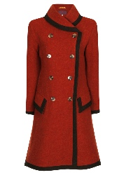 Beaver of Bolton Ladies Framed Shawl Collar Double Breasted 3/4 Coat