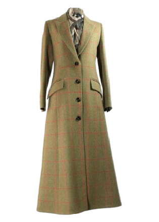 Beaver of Bolton Ladies Single Breasted Tweed Coat