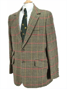 Beaver of Bolton Mens Single Breasted 2 Button Tweed Sports Jacket